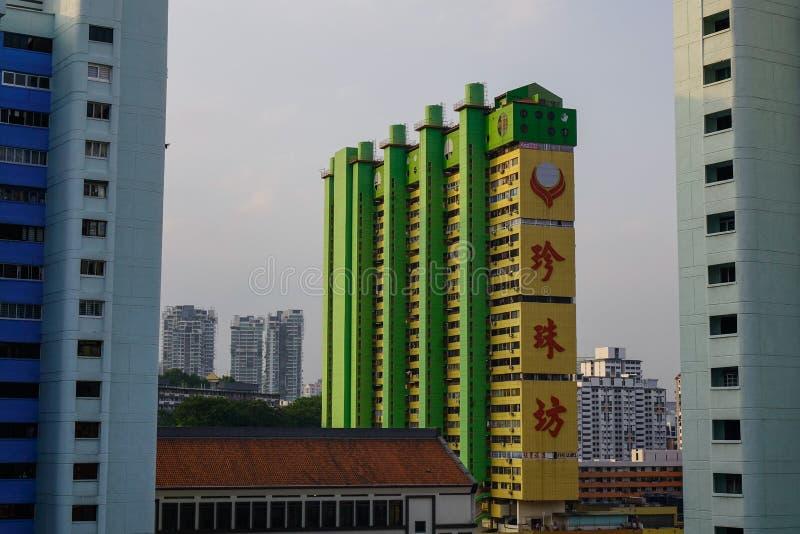Moderne Gebäude in Singapur stockbilder