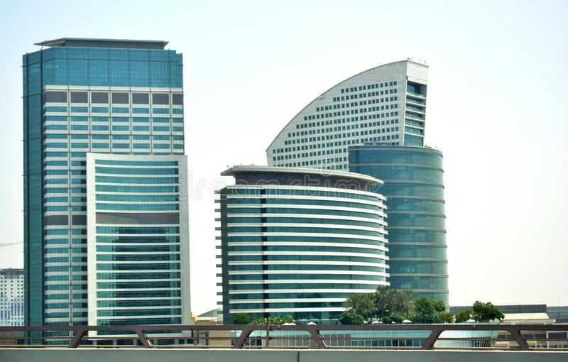 Moderne Gebäudecollage stockbild