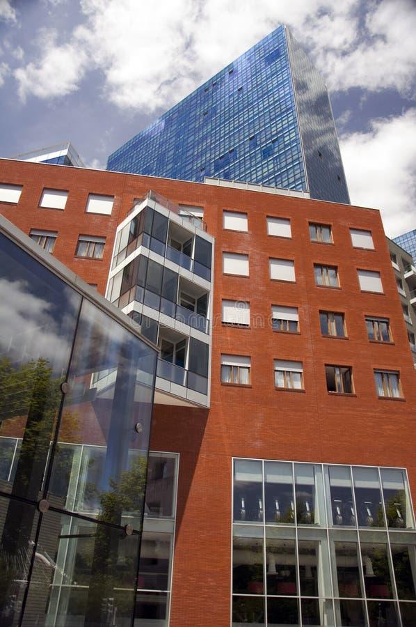 Moderne gebouwen in Bilbao, Spanje stock fotografie