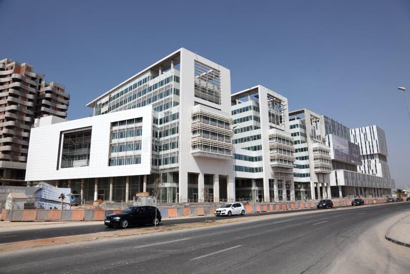 Moderne gebouwen in Casablanca stock foto's