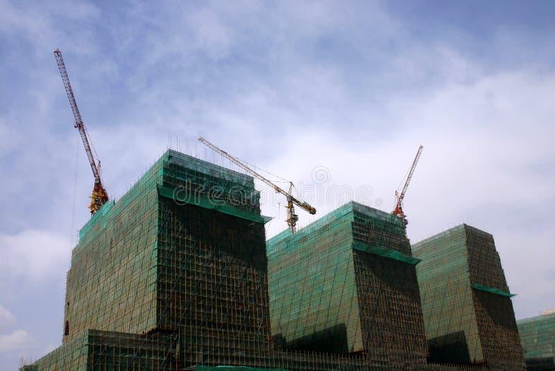 Moderne gebouwen die China bejing stock afbeeldingen