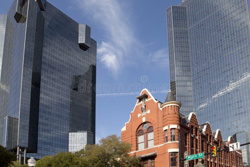 Moderne gebouwen in Fort Worth van de binnenstad TX royalty-vrije stock foto's