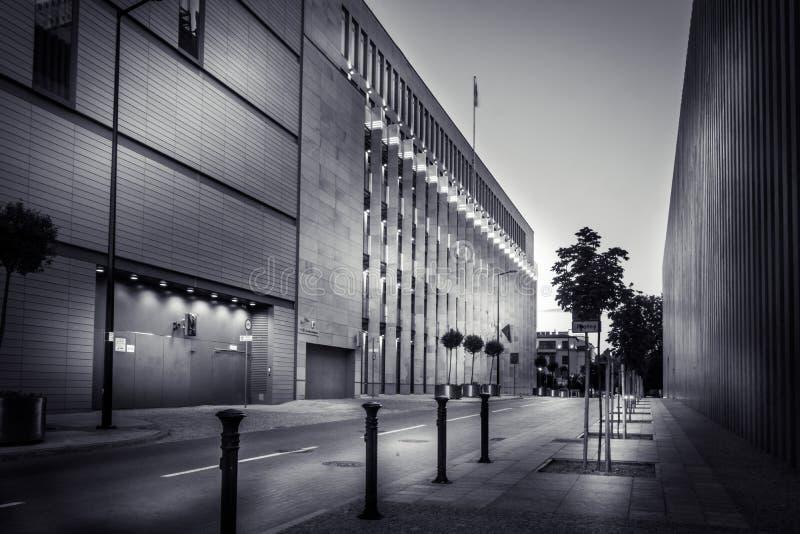 Moderne gebouwen in het centrum van de oude stad in Lublin royalty-vrije stock afbeeldingen