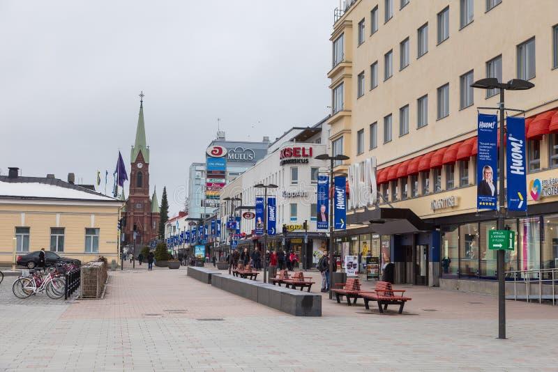 Moderne gebouwen in het centrum van de stad, Mikkeli, Finland stock afbeeldingen
