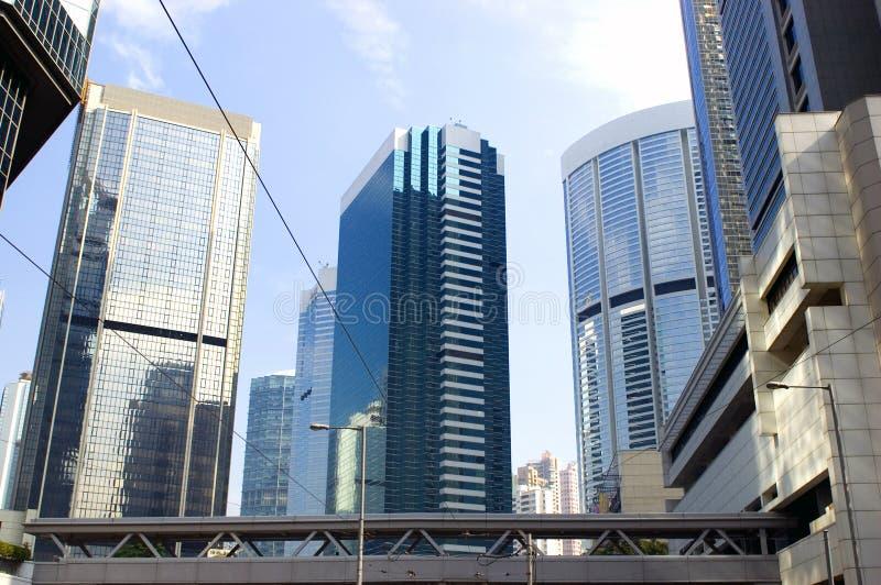 Moderne gebouwen in Hongkong royalty-vrije stock foto's