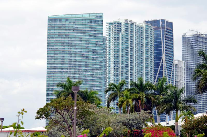 Moderne gebouwen in Miami, Florida stock foto's