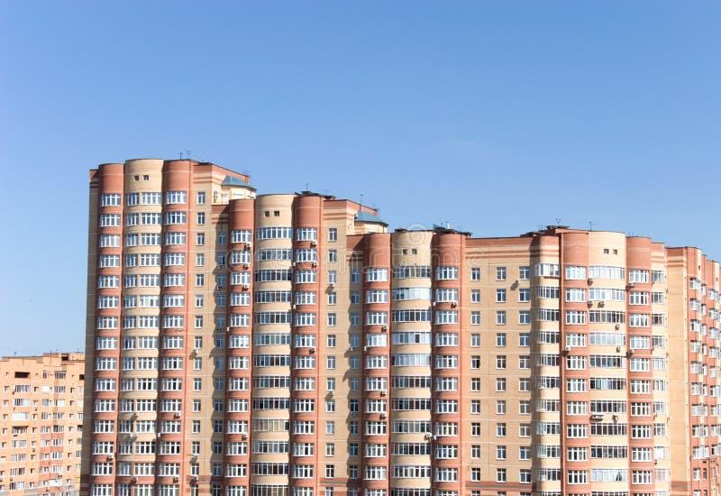 Moderne gebouwen in Moskou stock afbeeldingen