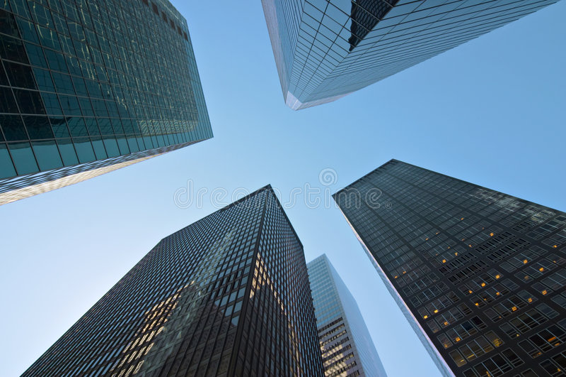 Moderne gebouwen in New York royalty-vrije stock foto