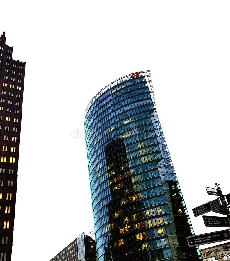 Moderne gebouwen op Potsdamer Platz royalty-vrije stock foto