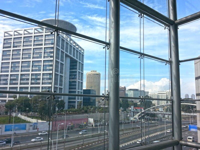 Moderne Gebouwen in Tel. Aviv City Center israël stock foto