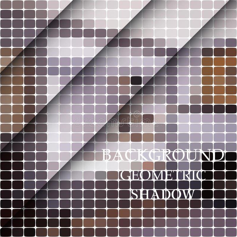 Moderne geometrische abstracte achtergrond - ovaal Abstracte geometrische achtergrond van grijs ovaal met een diagonale schaduw vector illustratie