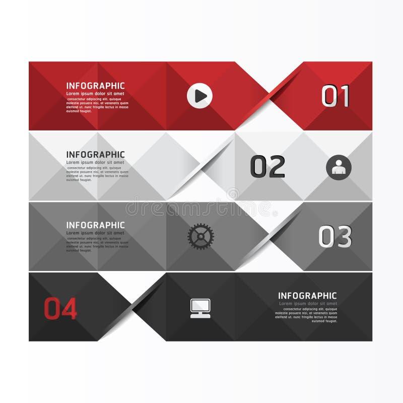 Moderne geometrische Infographics-Designschablone/kann für benutzt werden lizenzfreie abbildung