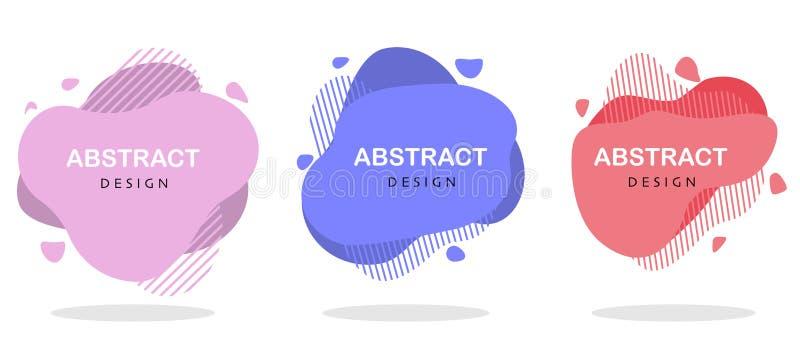 Moderne geometrische vloeibare abstracte vectorbannerreeks vector illustratie