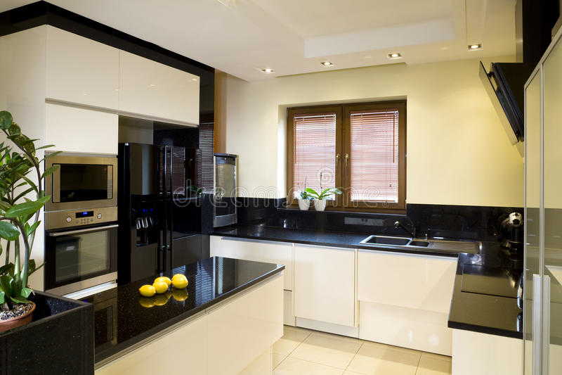 Moderne gepaste keuken royalty-vrije stock foto's