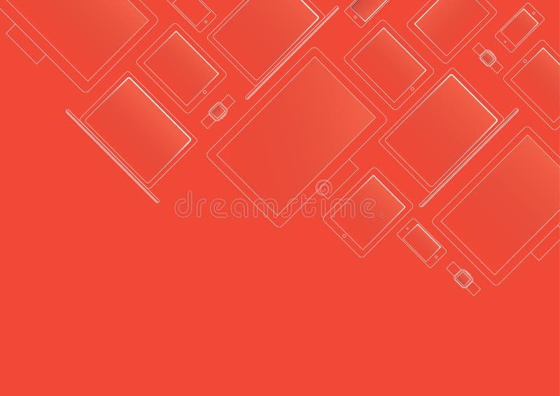 Moderne Geräte in der Röntgenstrahlart auf rotem Hintergrund lizenzfreie stockfotos