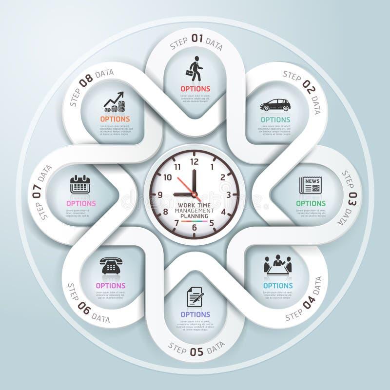 Moderne Geschäft Infographics-Kreis-Origamiart. vektor abbildung