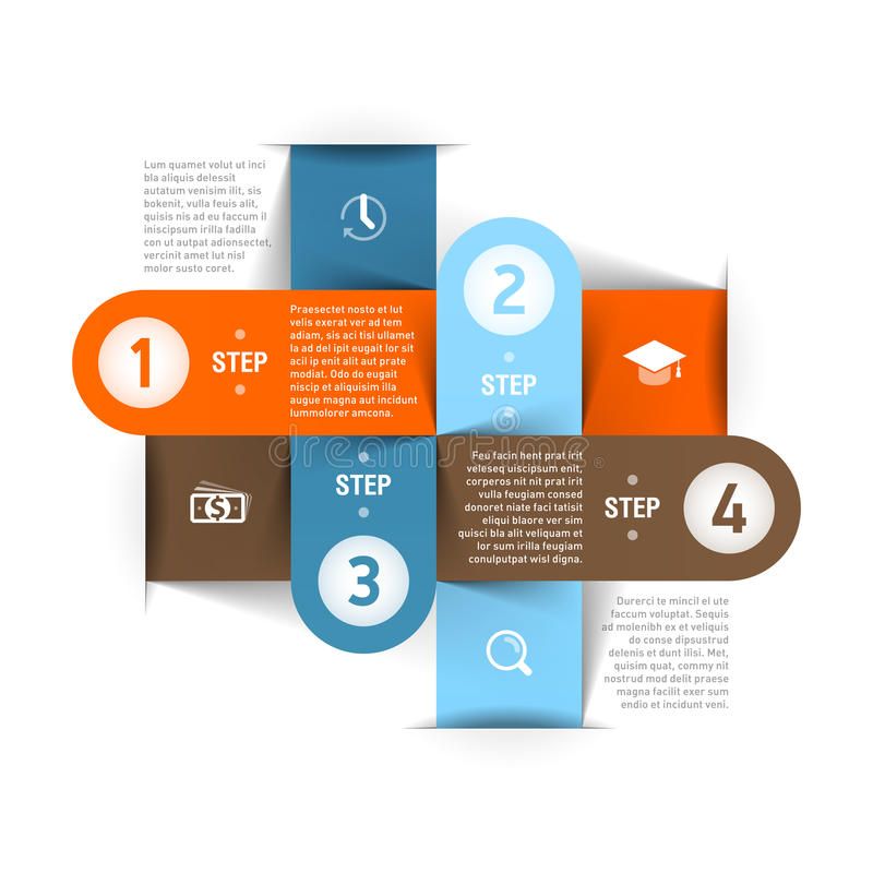 Moderne Geschäft infographics Schablone lizenzfreie abbildung