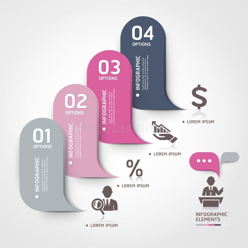 Moderne Geschäftsblasensprache-Schablonenart. lizenzfreie abbildung