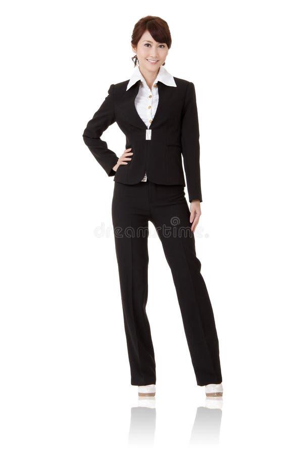 Moderne Geschäftsfrau lizenzfreies stockfoto