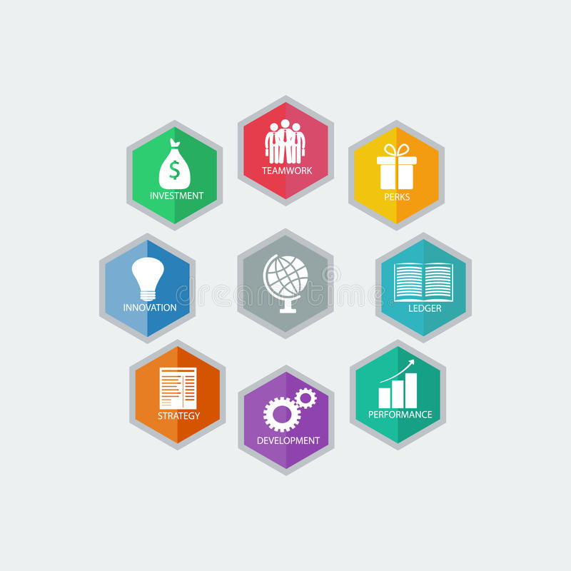 Moderne Geschäftsidee Infographic-Designs Auch im corel abgehobenen Betrag lizenzfreie abbildung