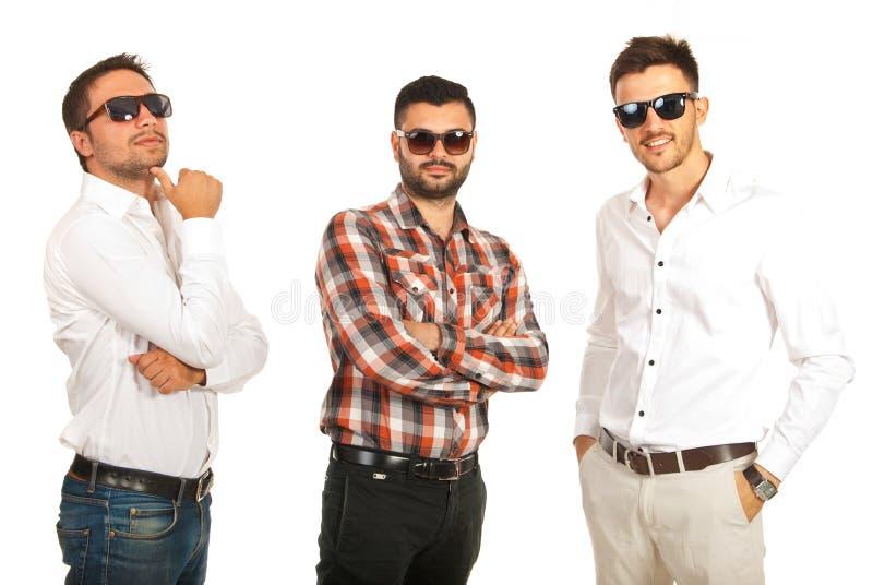 Moderne Geschäftsleute mit Sonnenbrille lizenzfreies stockfoto
