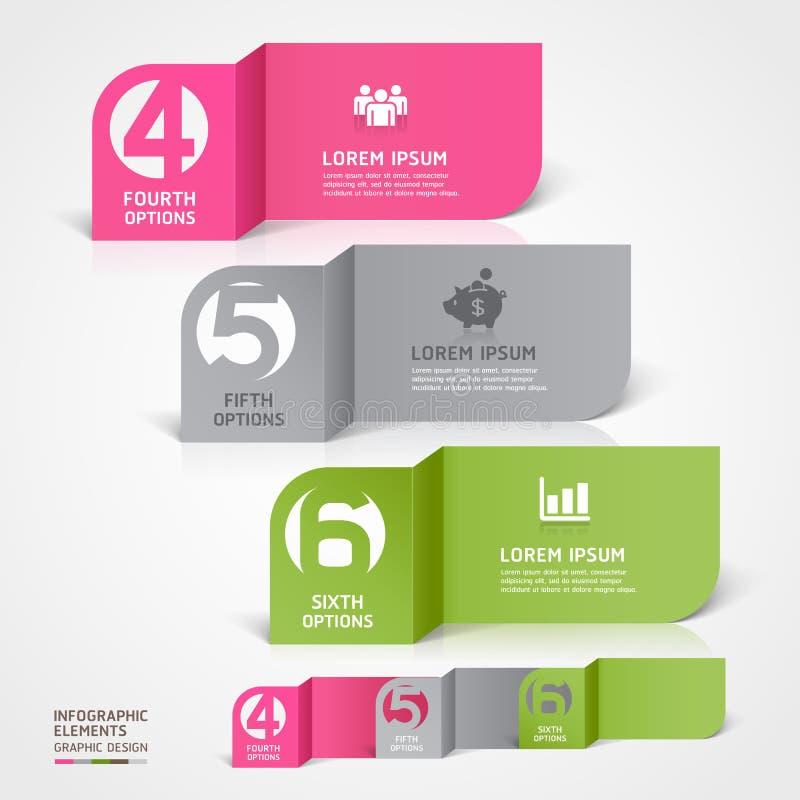 Moderne Geschäftspapier-Schnitt infographics Schablone. stock abbildung