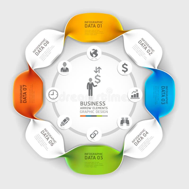 Moderne Geschäftsspirale infographics Wahl. vektor abbildung