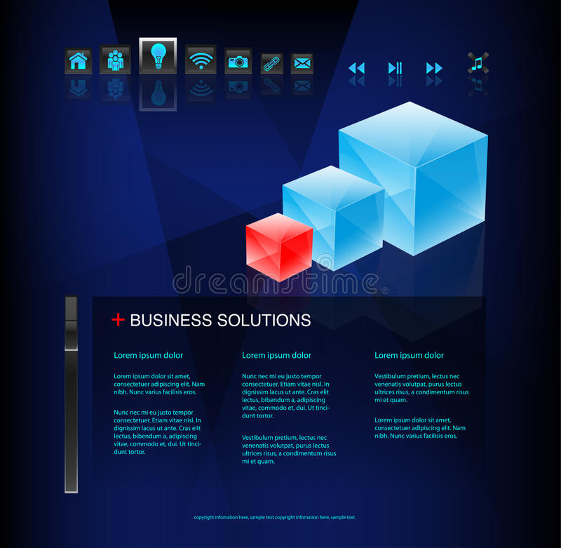 Moderne Geschäftsweb site vektor abbildung