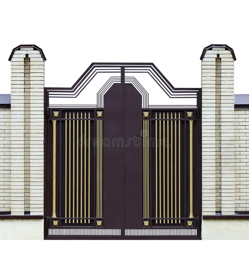 Moderne gesmede poorten. 2. stock afbeelding