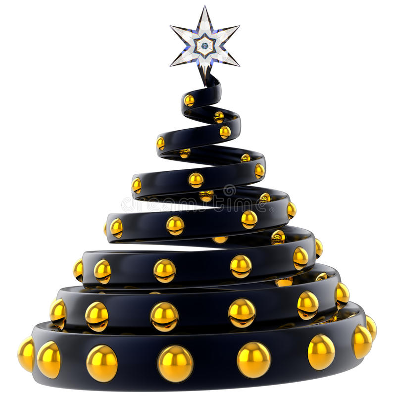Moderne gestileerde Kerstboom (Huren) royalty-vrije illustratie