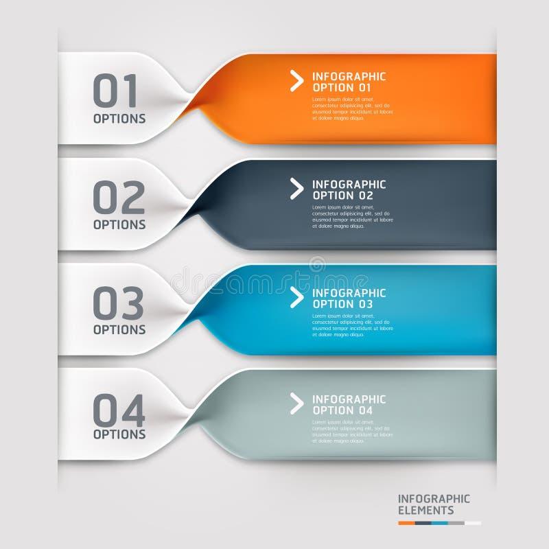 Moderne gewundene infographics Wahlfahne. lizenzfreie abbildung