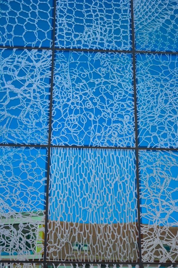 Moderne glas-tegels in blauw royalty-vrije stock foto