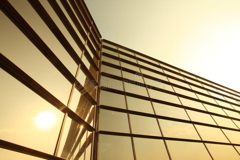 Moderne glassilhouetten stock foto's