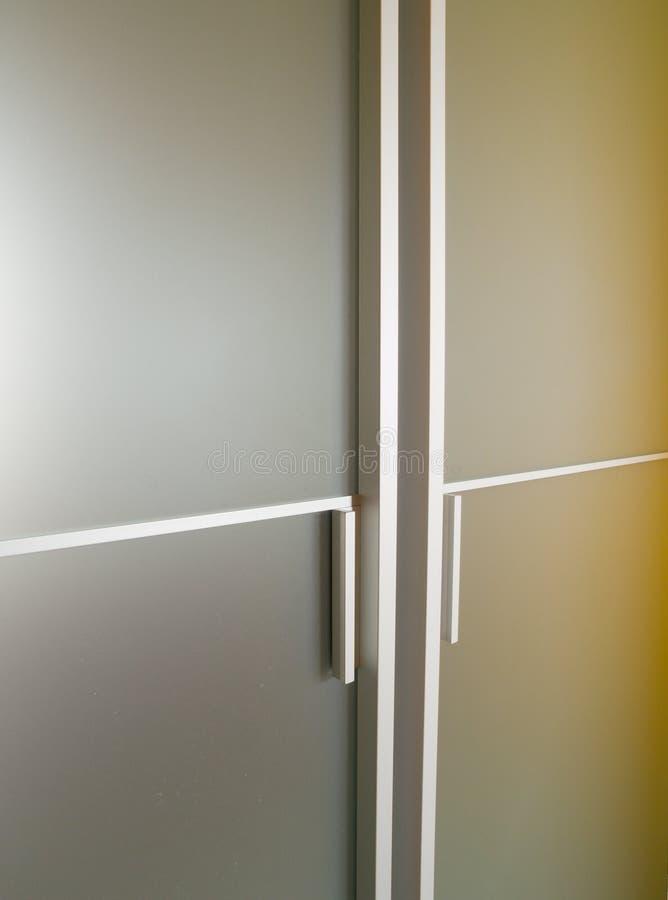 Moderne Glastür lizenzfreie stockbilder