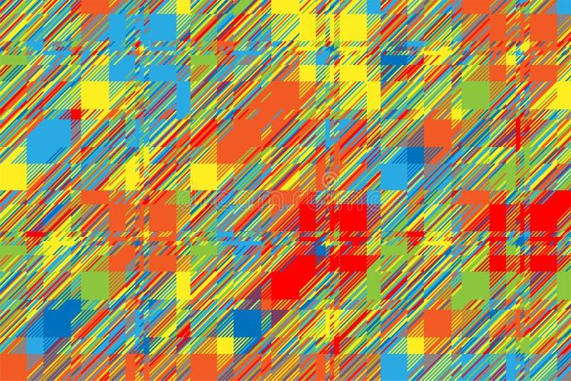 Moderne glitch achtergrond Vector van het kleuren de geometrische abstracte patroon vector illustratie