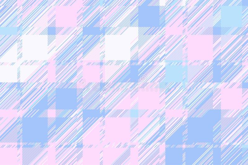 Moderne glitch achtergrond Vector van het kleuren de geometrische abstracte patroon stock illustratie