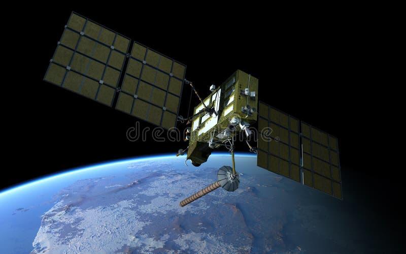 Moderne GPS satelliet vector illustratie