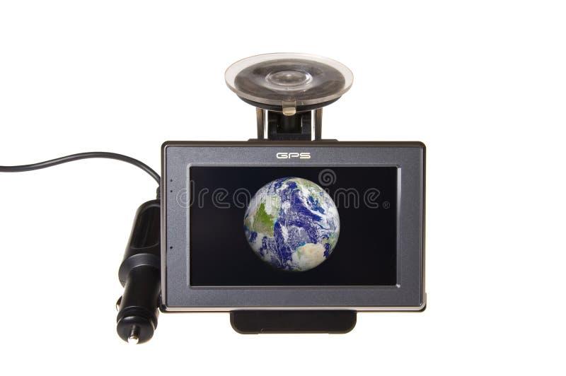 Moderne GPS-Satellitennavigation um Erde lizenzfreie stockfotos