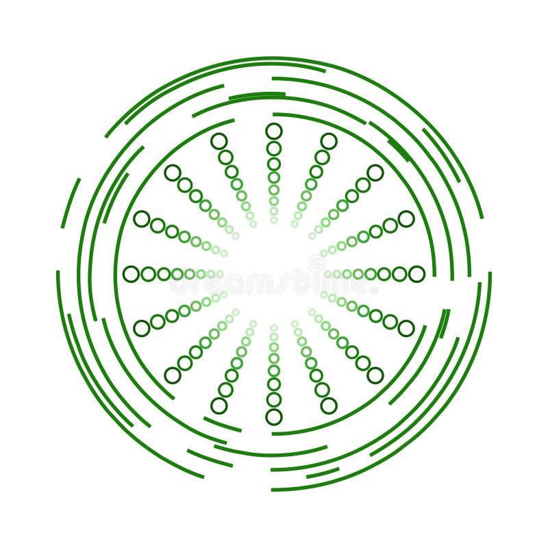 Moderne grüne Kreise und Bereich-Ikonen-Design stockfoto