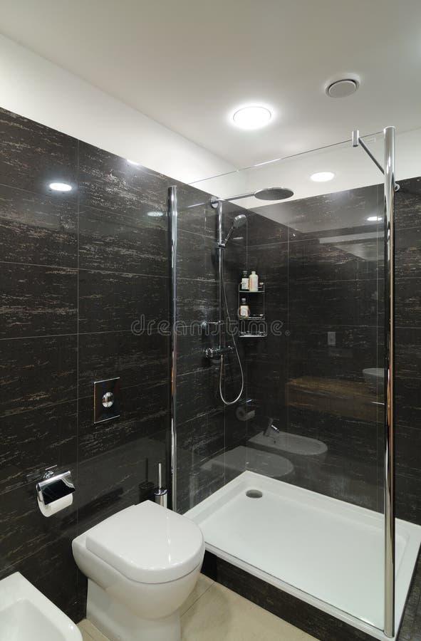 Moderne grijze badkamers royalty vrije stock fotografie afbeelding 19529007 for Moderne badkamers