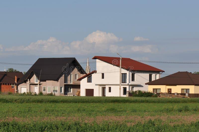 Moderne Häuser lizenzfreie stockfotos