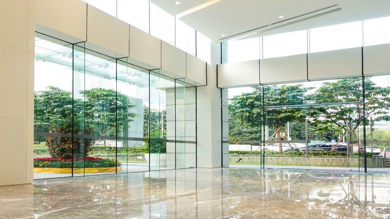Moderne Handelsgebäudelobby, Bürogang, Hotelpassage lizenzfreies stockfoto