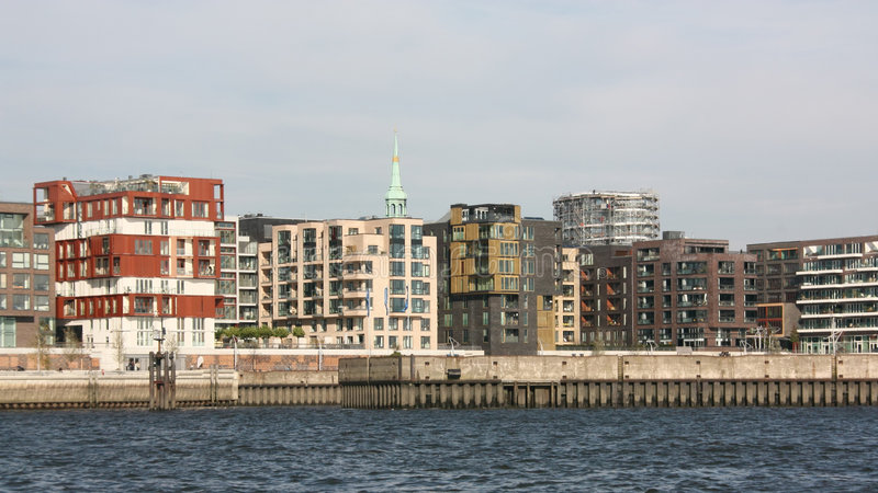 Moderne Haus-Skyline lizenzfreies stockbild