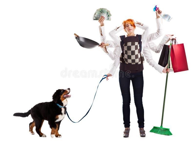 Moderne Hausfrau lizenzfreie stockfotos