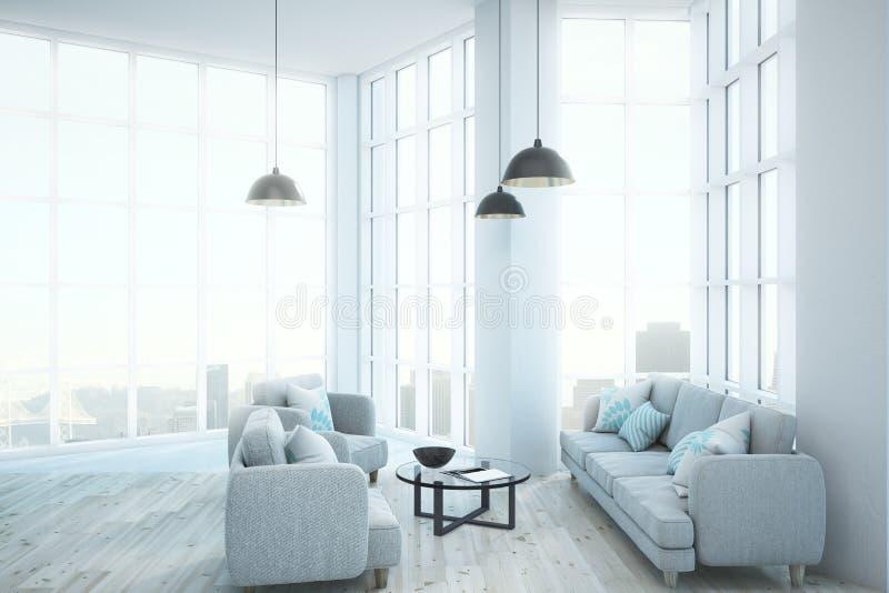 Moderne heldere woonkamer vector illustratie