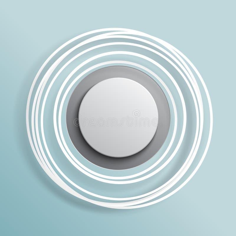 Moderne het document van cirkelsbanners besnoeiing stock illustratie