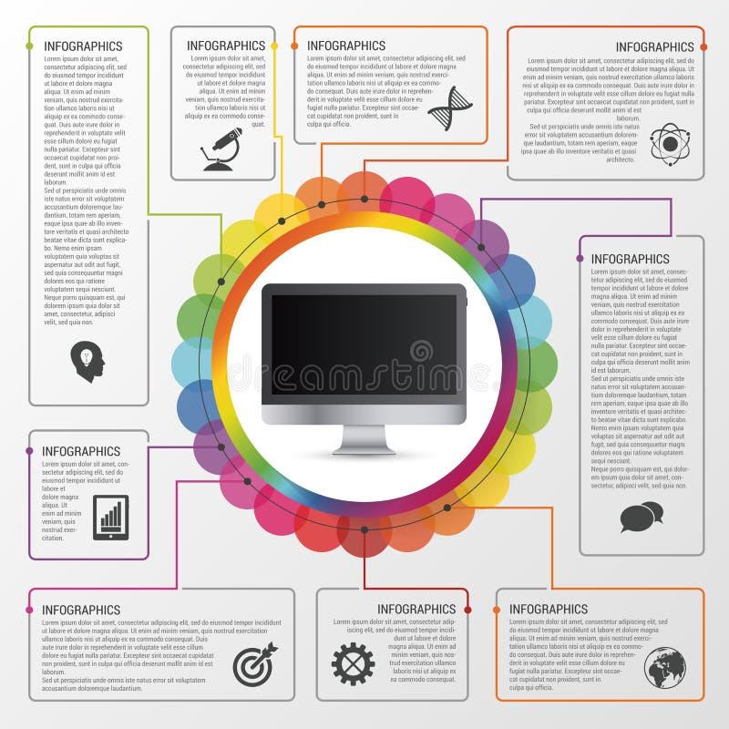 Moderne het werkbeheer planningsinfographics Bedrijfs concept Vector illustratie royalty-vrije illustratie