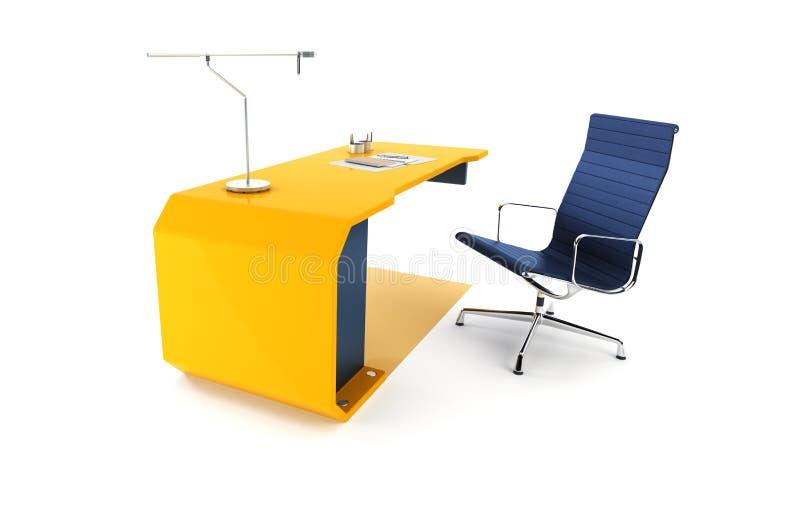 Moderne het werkplaats in bureau royalty-vrije illustratie