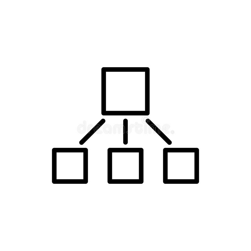 Moderne Hierarchielinie Ikone vektor abbildung