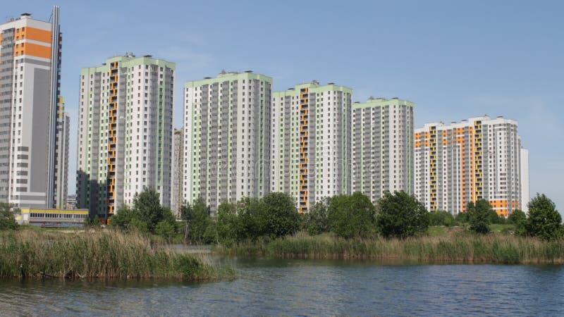 Moderne highrise gebouwen stock afbeelding